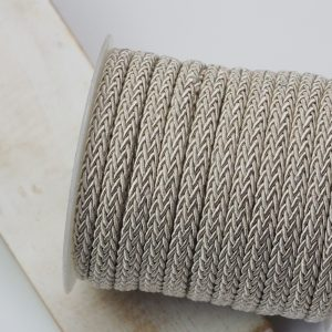 7x4 mm decorative cord Pale Antique Gold x 0.5 m