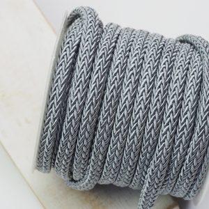 7x4 mm decorative cord Silver Grey x 0.5 m