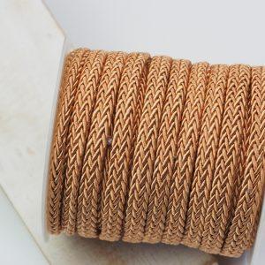 7x4 mm decorative cord Sunset Gold x 0.5 m