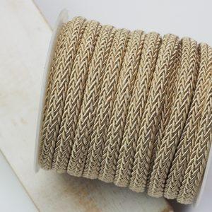 7x4 mm decorative cord Vintage Gold x 0.5 m