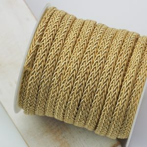 7x4 mm decorative cord Yellow Gold x 0.5 m