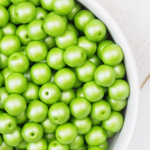 6 mm glass pearls Powdery Lime x 40 pc(s)