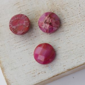 10x10 mm gemstone cabochon dyed jasper Pink x 1 pc(s)
