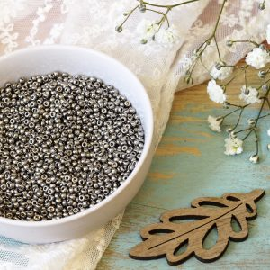 Miyuki seed beads 11/0 beads nr. 190 Nickel Plated x 5 g