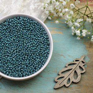 Miyuki seed beads 11/0 beads nr. 4217 Duracoat Galvanized Seafoam x 5 g