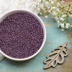 Miyuki seed beads 11/0 beads nr. 4220 Duracoat Galvanized Eggplant x 5 g
