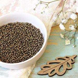 Miyuki seed beads 11/0 beads nr. 457 Dark Bronze x 5 g