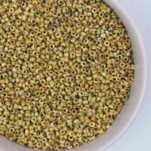 Miyuki seed beads 11/0 beads nr. 94512 Canary Yellow Matte Picasso x 5 g