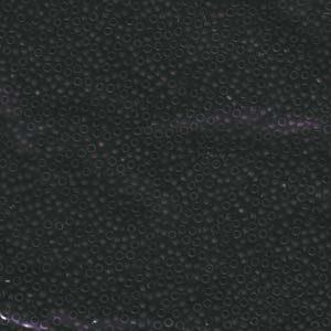 Miyuki seed beads 15/0 beads nr. 401F Matte Black x 5 g