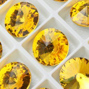 18 mm round glass cabochon Sunflower x 1 pc(s)