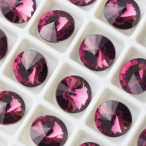 8 mm round glass cabochon Amethyst x 1 pc(s)