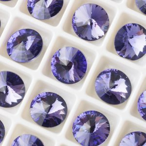 8 mm round glass cabochon Light Purple Velvet x 1 pc(s)
