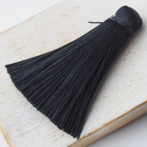 4 cm tassel imitation silk Black x 1 pc(s)