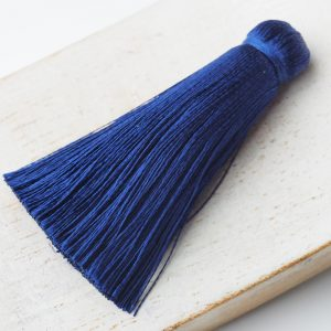 4 cm tassel imitation silk Dark Blue x 1 pc(s)