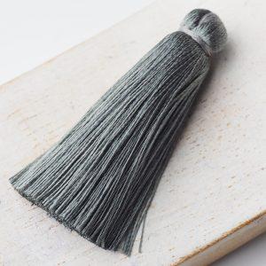 4 cm tassel imitation silk Dark Grey x 1 pc(s)