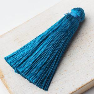 4 cm tassel imitation silk Dark Tourmaline x 1 pc(s)