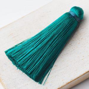 4 cm tassel imitation silk Emerald x 1 pc(s)