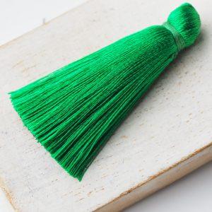 4 cm tassel imitation silk Forest Green x 1 pc(s)