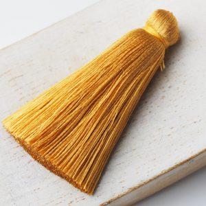 4 cm tassel imitation silk Golden Yellow x 1 pc(s)