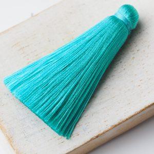 4 cm tassel imitation silk Green Turquoise x 1 pc(s)