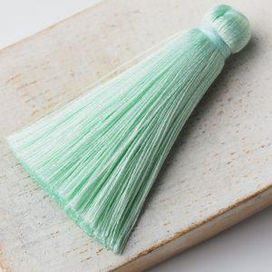 4 cm tassel imitation silk Light Mint Green x 1 pc(s)