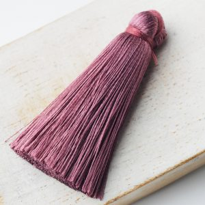 4 cm tassel imitation silk Malve x 1 pc(s)