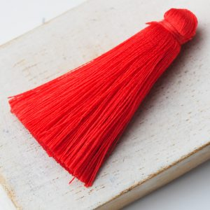 4 cm tassel imitation silk Orange Red x 1 pc(s)