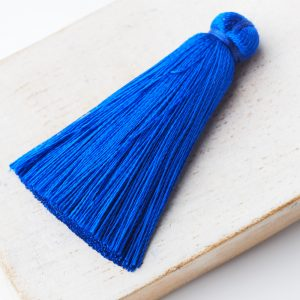 4 cm tassel imitation silk Sky Blue x 1 pc(s)