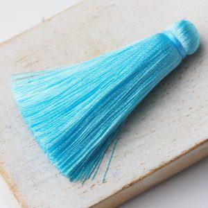 4 cm tassel imitation silk Turquoise Blue x 1 pc(s)