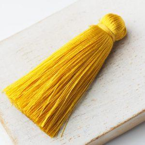 4 cm tassel imitation silk Yellow x 1 pc(s)