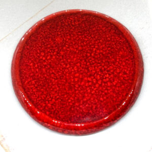Big Round Edged L2Studio cabochon Red Flame on light clay x 1 pc(s)