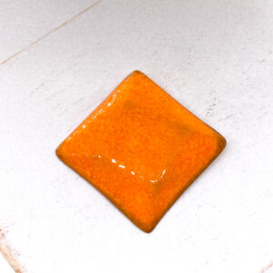 Rotated Square L2Studio cabochon Orange on light clay x 1 pc(s)