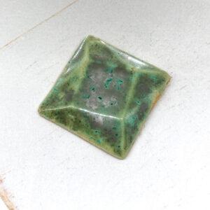 Rotated Square L2Studio cabochon SupernovaVerdigris on light clay x 1 pc(s)