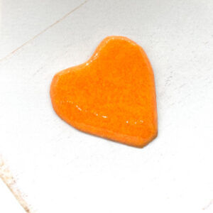 Heart L2Studio cabochon Orange on light clay x 1 pc(s)