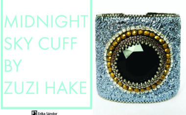 Midnight Sky Cuff Bracelet – bead embroidery tutorial