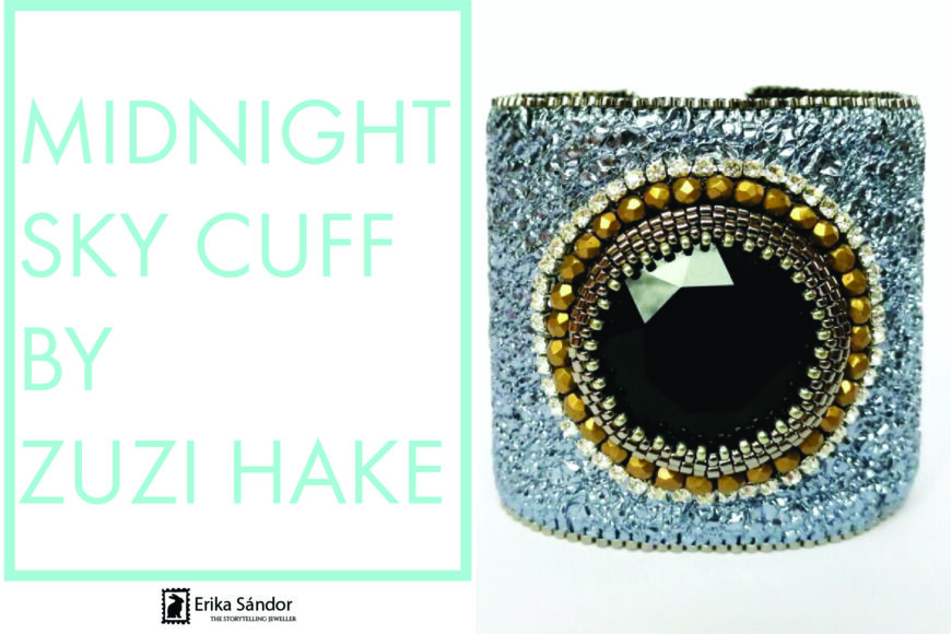 Midnight Sky Cuff Bracelet – bead embroidery tutorial