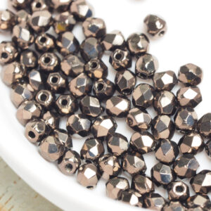 3 mm fire-polished beads LJ23980 Metallic Bronze x 100 pc(s)