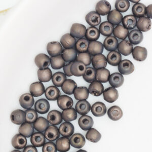 2 mm round glass pearls Matte - Dark Bronze x 100 pc(s)