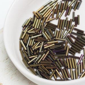 Miyuki Slender Bugle 6 mm SLB136-458 Metallic Iris Brown x 5 g