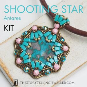 "SHOOTING STAR pendant jewelry making kit – ""Antares"""