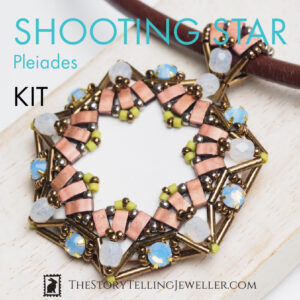"SHOOTING STAR pendant jewelry making kit – ""Pleiades"""
