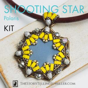 "SHOOTING STAR pendant jewelry making kit – ""Polaris"""