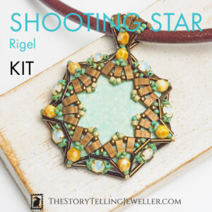 "SHOOTING STAR pendant jewelry making kit – ""Rigel"""