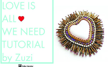 Love Is All We Need – bead embroidery tutorial