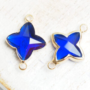 15x20 mm star crystal connector Royal Blue x 2 pc(s)