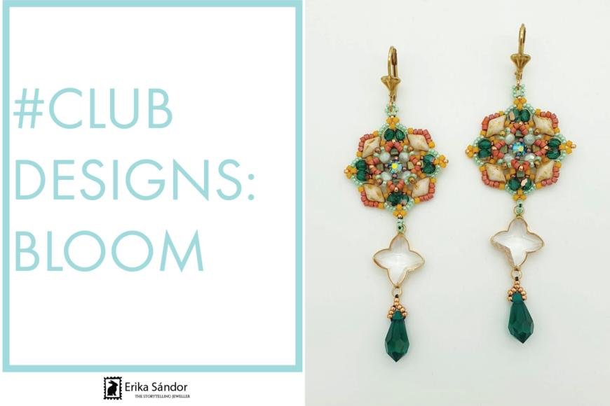 #ClubDesigns: Bloom earrings variations