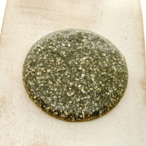 Round Middle L2Studio cabochon Grey Glitter on light clay x 1 pc(s)
