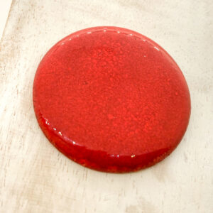 Round Middle L2Studio cabochon Red Flame on light clay x 1 pc(s)