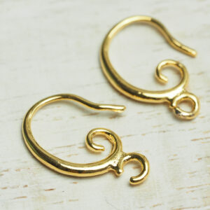 10x16 mm gold Earring Hook Voluta x 2 pc(s)