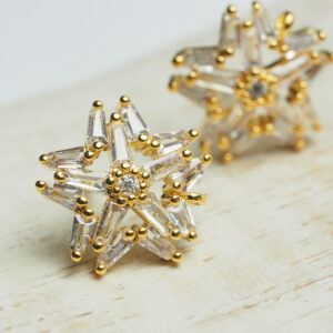 12 mm gold Earstud Fireworks x 2 pc(s)